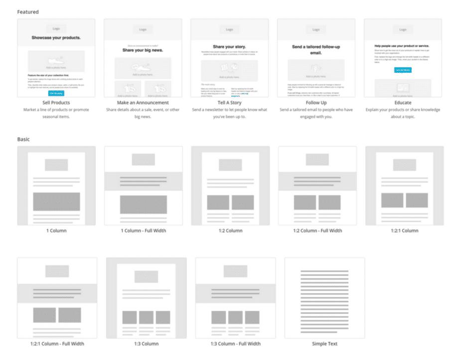 Mailchimp responsive designs