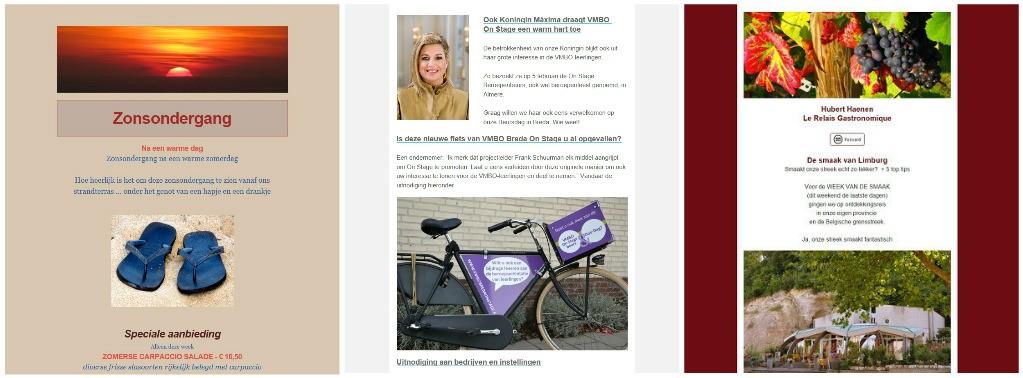 collage nieuwsbrieven