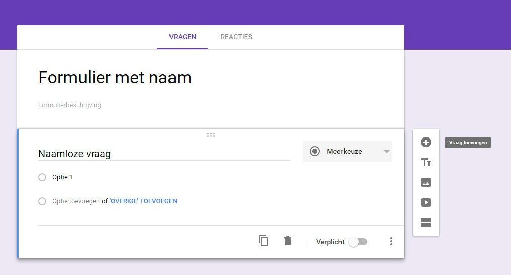 google forms met naam