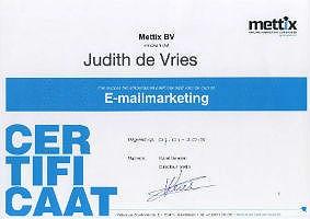 certificaat emailmarketing