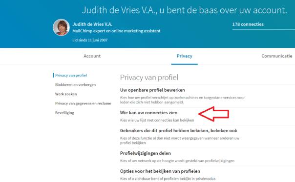 LinkedIn contacten beheren