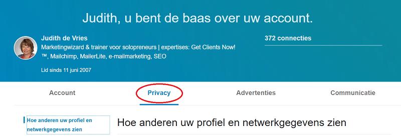 privacy linkedin