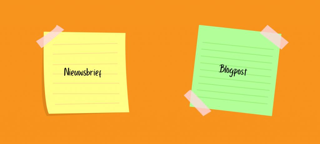 verschillen tussen een nieuwsbrief en een blog
