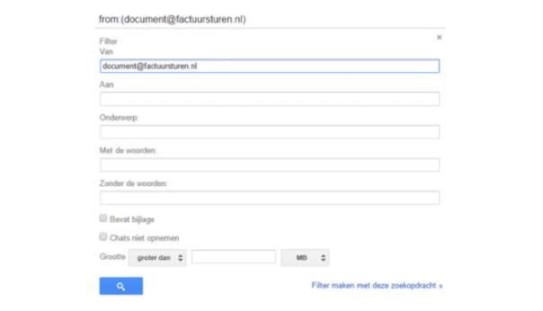 filters in gmail maken