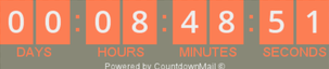 count down timer in MailChimp voorbeeld