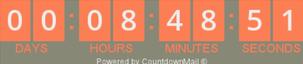 count down timer in MailChimp voorbeeld