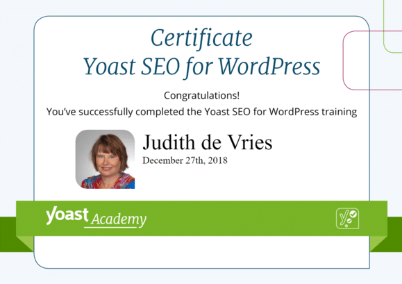 Yoast SEO for WordPress block editor
