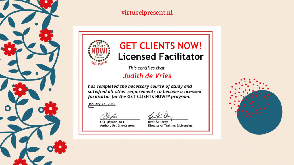 Get Clients Now licensed facilitator