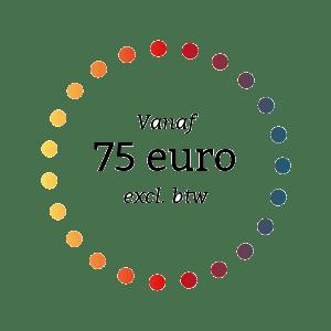 vanaf 75 euro excl. btw