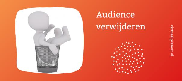 Hoe verwijder je een audience