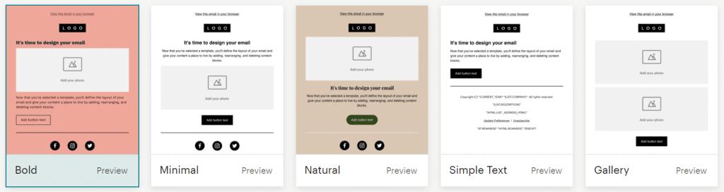 gratis mailchimp cursus inline editor