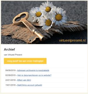 mailchimp formulieren - archief