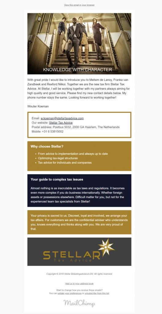 Mailchimp laten doen - startpakket